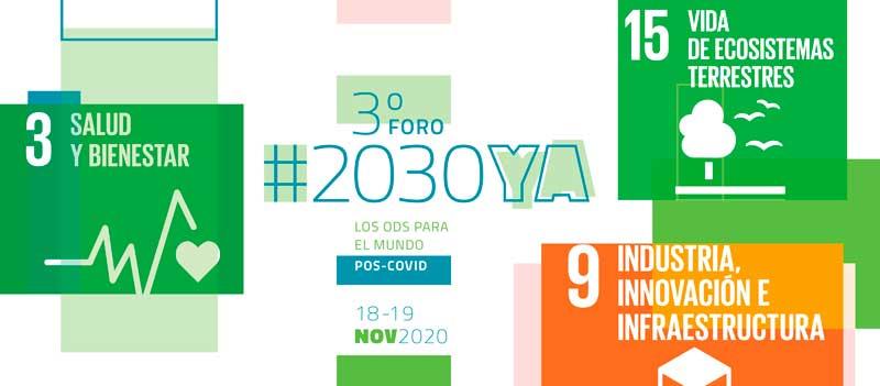 Participa del 3º Foro #2030YA: los ODS para el mundo pos-COVID